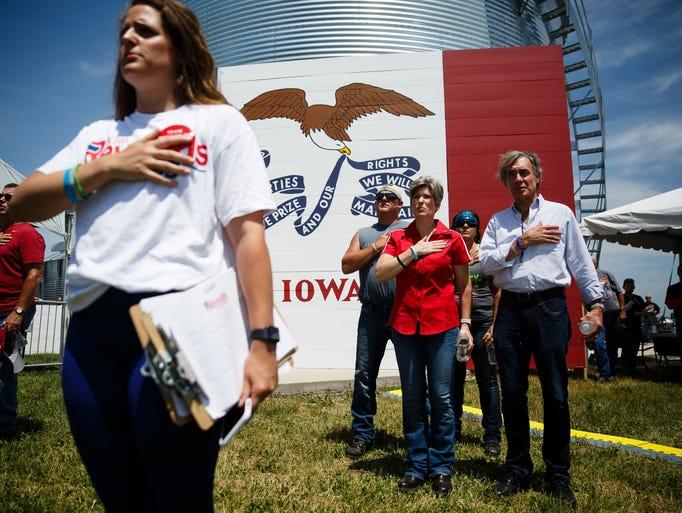 Iowa Sen. Joni Ernst says the Pledge of Allegiance