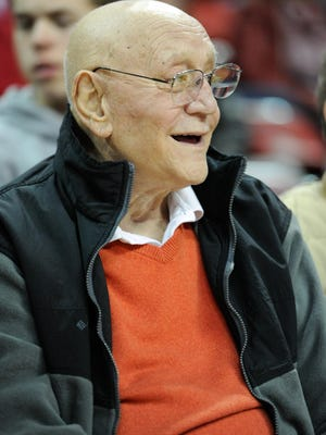 Former UNLV head coach Jerry Tarkanian takes in a game in February of 2013.