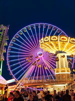 The Giant Wheel on Morey's Piers in Wildwood is illuminated by 92,400 lights.