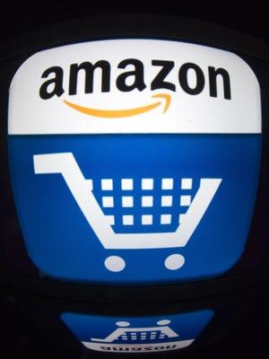 "Asn iPad with an ""Amazon"" logo."