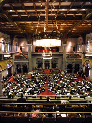 The New York Assembly meets in Albany.