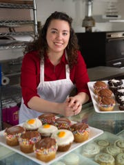 The Upper Crust Cakery, owned by Julie McOrmond, makes a variety of gourmet cupcakes.