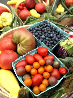Examples of fresh produce from a CSA in Middle Tennessee