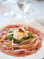 Fresh mozzarella rests on a bed of arugula and prosciutto at Nunzio Ristorante Rustica in Collingswood. Nunzio is among the eateries participating in Collingswood's Farm to Fork Restaurant Week.