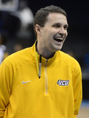 Will Wade watches during a practice day before the first round.
