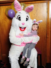 The Bunny gets a photo taken with Autym Denes of Redford.