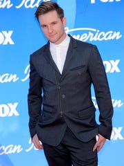 """FILE - In this May 16, 2013, file photo, former contestant Blake Lewis arrives at the """"American Idol"""" finale in Los Angeles."""