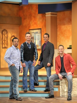 "Southern gospel quartet Canton Junction is a highlight of John Hagee Ministries ""Righteous Revolution Rally"" this week in Branson. From left, members include Tim Duncan, Casey Rivers, Matthew Hagee and Ryan Seaton."