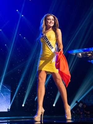 Elena LaQuatra, Miss Pennsylvania USA 2016, rehearses at the T-Mobile Arena in Las Vegas on Friday, June 3rd.