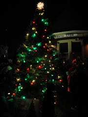 The annual tree lighting took place Saturday evening