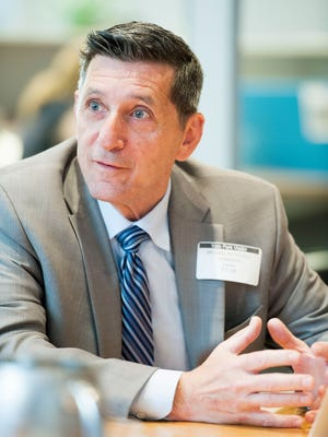 White House Office of National Drug Control Policy Director Michael Botticelli meets with members of the USA TODAY editorial board at the Gannett headquarters in Virginia on July 6, 2016.