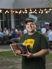 The Pig & Pint, located in Jackson's Fondren community, uses Carolina-inspired vinegar barbecue sauce.