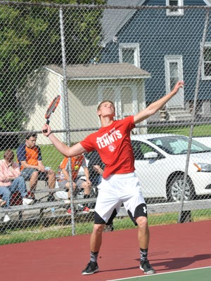 Bucyrus' Kyle Hamm leads the way as the No. 1 in singles for the Redmen and will look to continue a successful sophomore season.