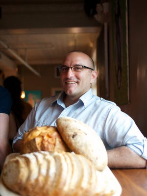 Anthony Cerrato with some of his bread at Strada.