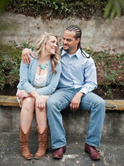 An engagement photo of Christon and Kelly Chaisson