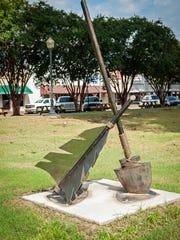 A new sculpture entitled Broken Arrow has been added