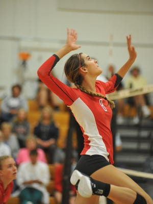 Buckeye Central's Lexi Evak had a big game at the net against the Lady Eagles.