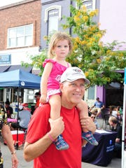 Doug Moak of Northville spends the afternoon with granddaughter