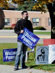 William Powell, a write-in candiate for South Lyon