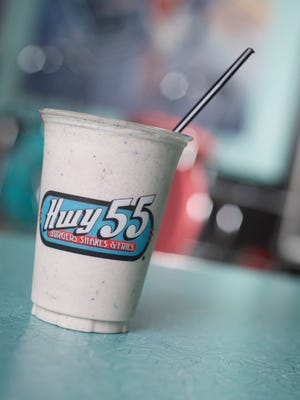 Hwy 55 serves up a traditional American menu of cheeseburgers, fries, hot dogs, cheesesteak, chicken and fresh custard and shakes. Shakes include frozen custard made on site.