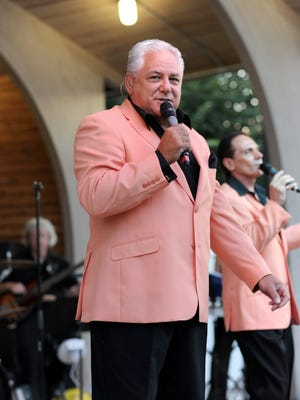 Tommy Petillo sings during a 2013 Duprees concert in East Rutherford's Sesselman Park.