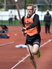 Adam Stavash of Hasbrouck Heights competes in the C pole vault at the 57th annual Jack Yockers Bergen County Relays at River Dell High School.