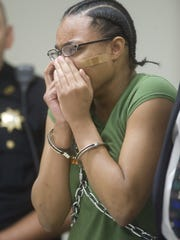 Shatara Carter, then 14, is sentenced in Superior Court in Camden in August 2010 for the killing of Muriah Huff, 18, of Camden.