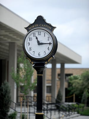 A new clock is part of the upgrades at North Canton City Hall.