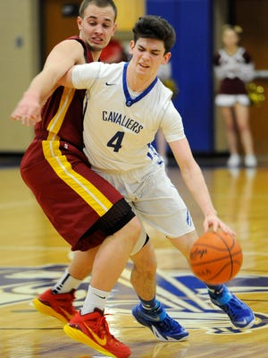 Chillicothe's Tommy Bolte is fouled by Westerville North during a Division I boys sectional final game at Chillicothe High School. Bolte, who just finished his college career at Concord, recently signed to play pro basketball with Real Murcia of Spain's LEB Plata.