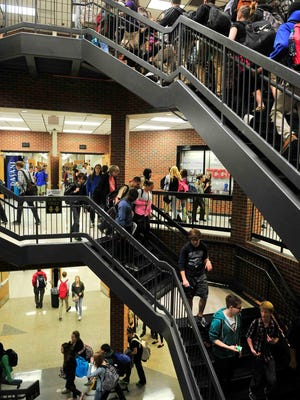 Students travel through Mt. Juliet High, one of many Wilson County schools near or beyond capacity. Officials will look at prioritizing several new construction and expansion projects to make way for continued growth.