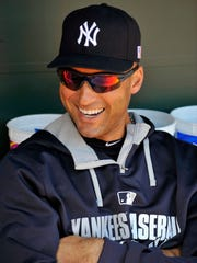 New York Yankees shortstop Derek Jeter prior to  a doubleheader against the Baltimore Orioles earlier this month.