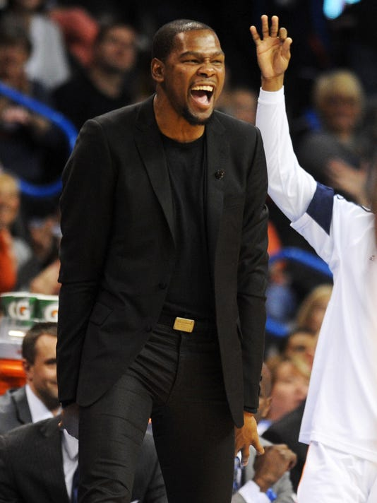 Kevin Durant will play Tuesday for Thunder vs. Pelicans