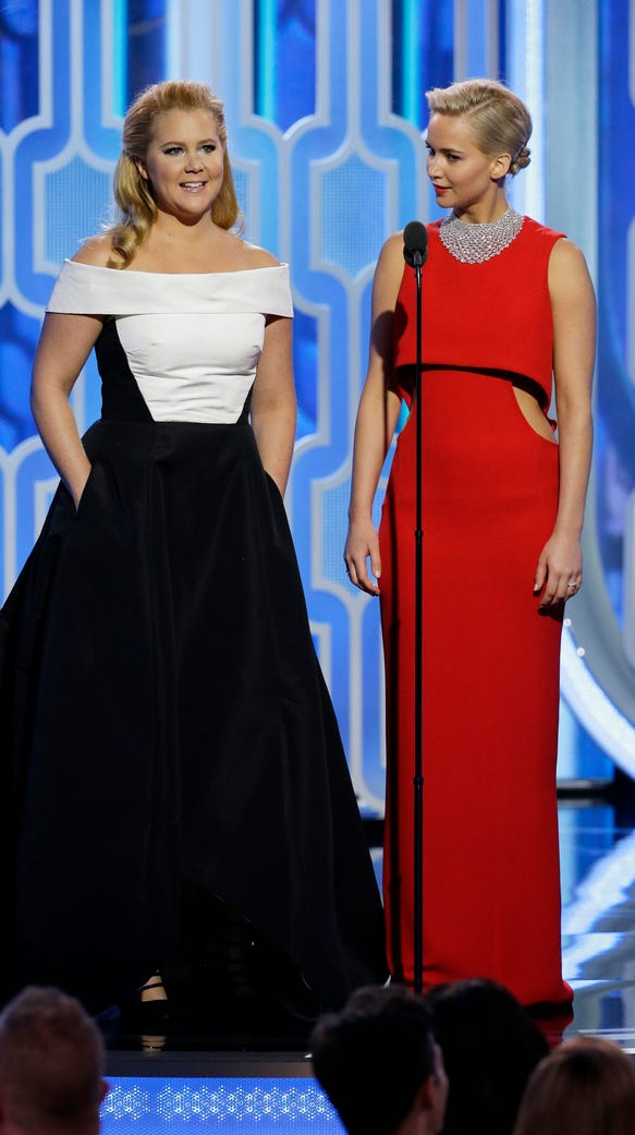 Amy Schumer and Jennifer Lawrence presented together