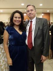 Former El Paso County Judge Veronica Escobar and husband Michael Pleters