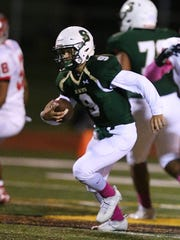 J.P. Stevens quarterback Joey Young runs for yardage