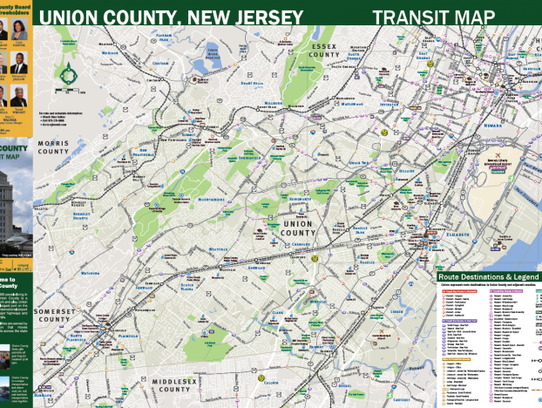 The new Union County Transit Map is available free