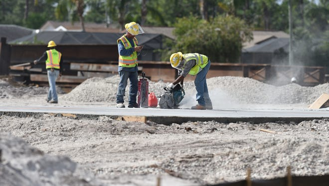 Construction crews are preparing for work on the west side of the proposed Crosstown Parkway Bridge on Tuesday, Feb. 7, 2017, to span over the North Fork of the St. Lucie River in Port St. Lucie.