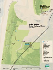 Map of Sikta Sedge State Natural Area