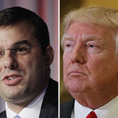 U.S. Rep. Justin Amash, R-Cascade Township, left, and