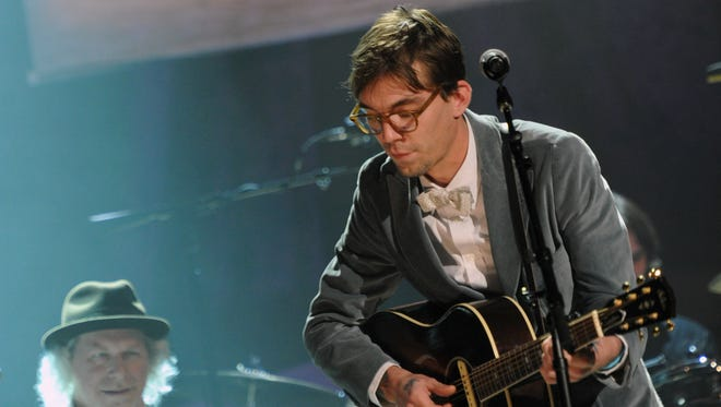 Justin Townes Earle performs during the 10th Americana Music Association honors and awards at the Ryman Auditorium on October 13, 2011 in Nashville, Tennessee.