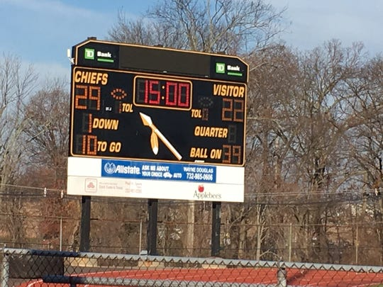 Final score of the game, Piscataway 29 and Franklin