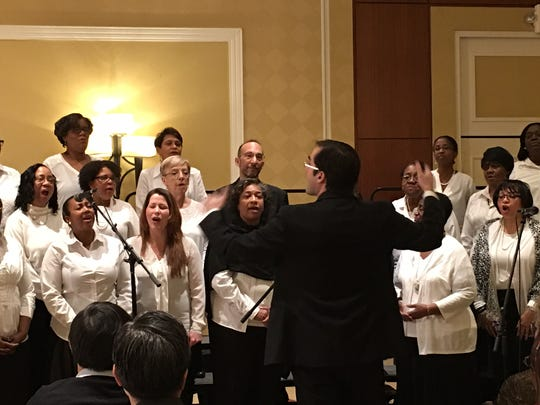 Members of the Community Felllowship Mass Choir perform during the 19th annual Franklin Township Community Breakfast.