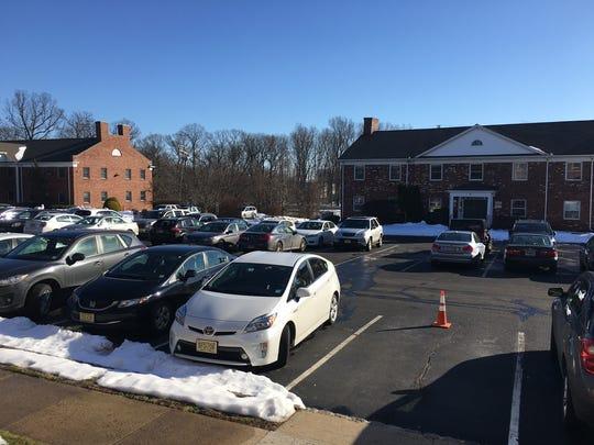 The office complex parking lot in Raritan Borough where Richard Schubach's body was found.