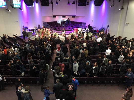 """Mourners gathered at Agape Family Worship Center on Thursday to remember Rahway business owner Jamal """"Mally"""" Gaines, who was shot to death Friday."""