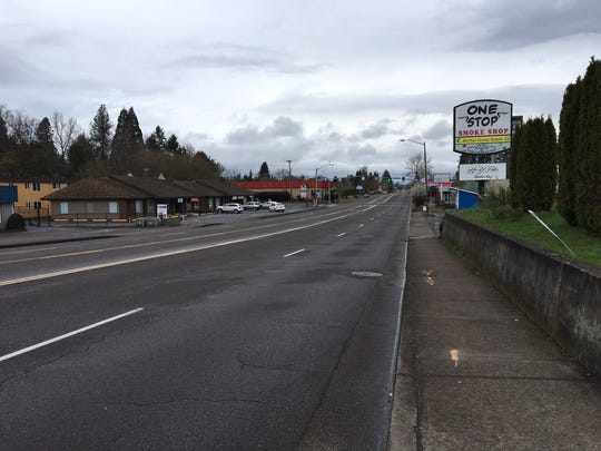 The 3900 Block of River Road N in Keizer, where an 8-year-old boy was struck and killed by a motor vehicle on Friday evening.