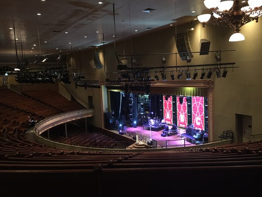 The interior of the Ryman Auditorium.