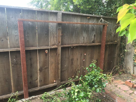 A crew from Rancho Cielo repaired the fence and added a brace to prevent it from coming down in future storms.