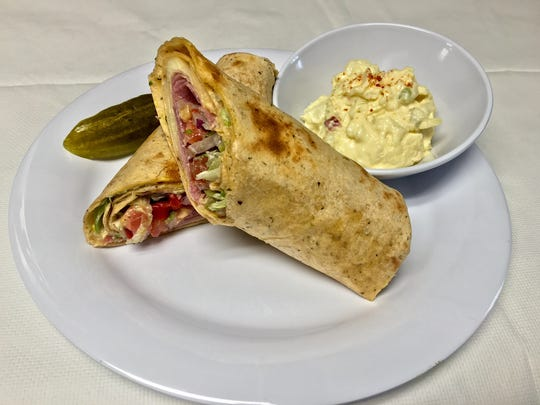 The cafe features lunch and breakfast items and opened April 1.