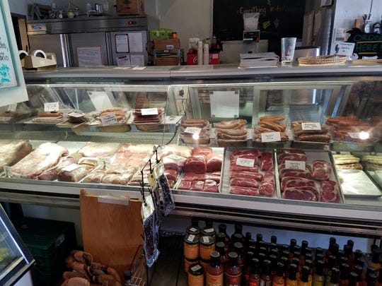 The deli case at Choice City Butcher & Deli in Old Town, Fort Collins.