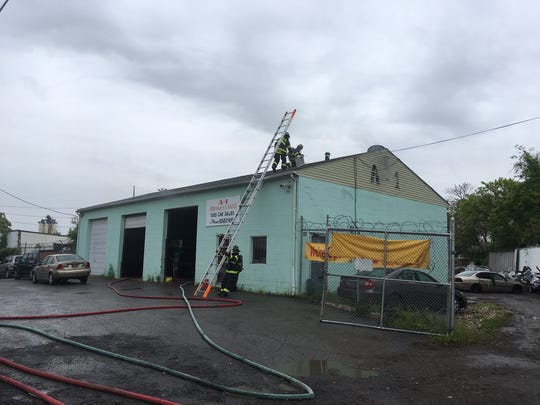 Wilmington city firefighters quickly knocked down a fire that spread from a forklift to a nearby building at A-1 Parts and Sales in the 400 block of Garacshes Lane around 1:45 p.m.